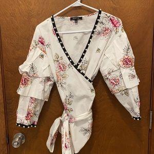 Relativity kimono style blouse size large